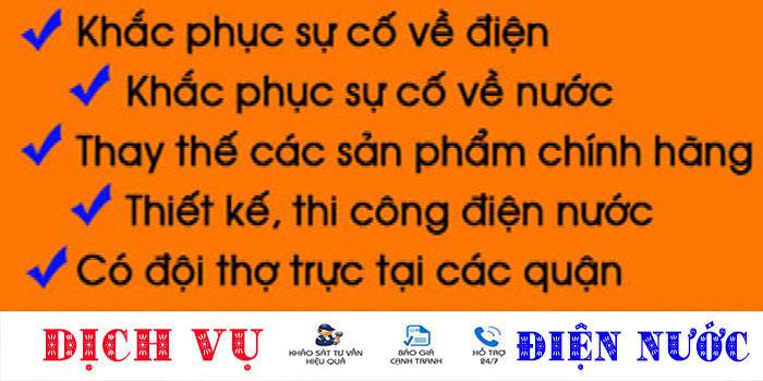 Dịch vụ sửa chữa điện nước tại nhà quận Tân Phú uy tín