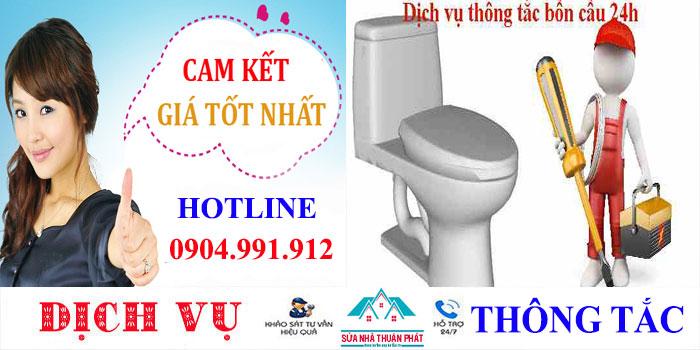 Thông tắc bồn cầu tại nhà quận Bình Tân chuyên nghiệp