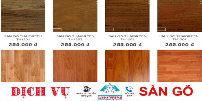 Báo giá sàn gỗ công nghiệp giá rẻ nhất