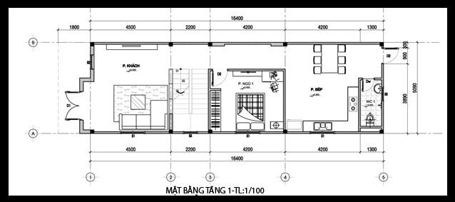 Download bản vẽ cad nhà 2 tầng