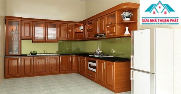 Báo giá làm tủ bếp gỗ giá rẻ