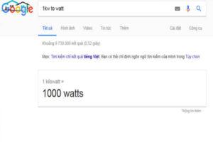 1kW bằng bao nhiêu W?
