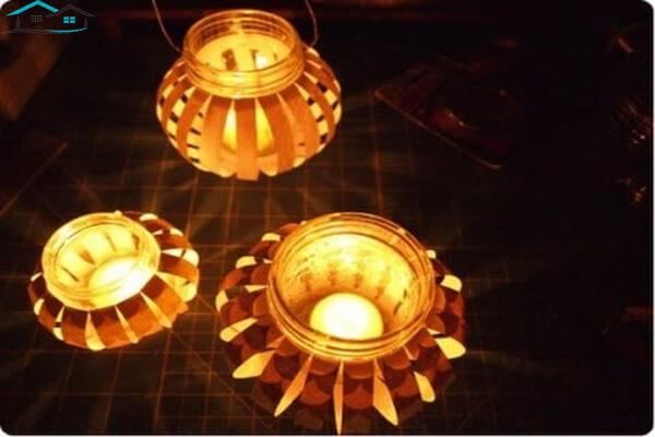 Đèn lồng bằng vỏ lon nước
