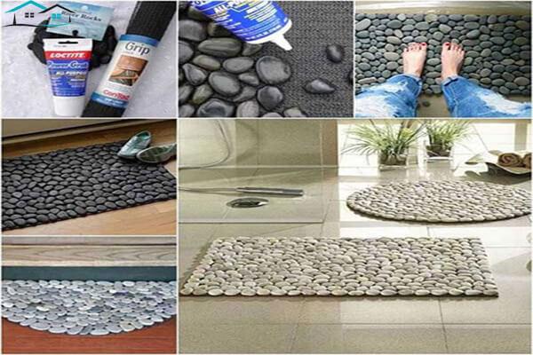 Dệt thảm chân bằng đá cuội