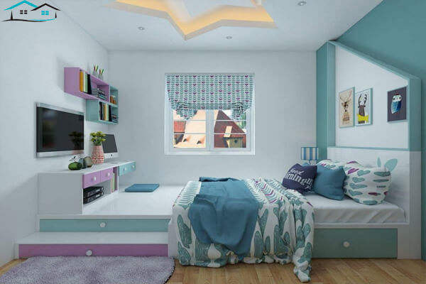 Phòng ngủ có diện tích 9m vuông
