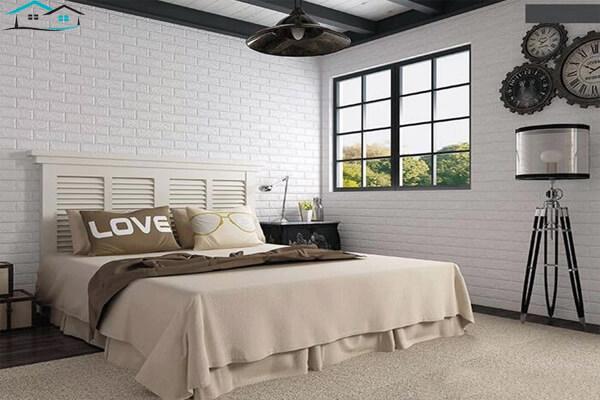 Mẫu xốp dán tường đẹp cho phòng ngủ