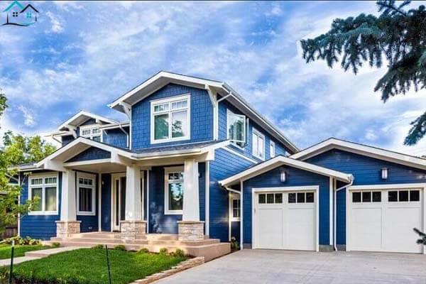 Nhà đẹp với màu xanh dương