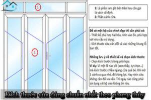 Kích thước của tất cả các loại cửa cửa đúng chuẩn nhất theo phong thủy