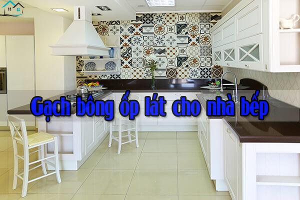 Gạch bông ốp lát cho nhà bếp